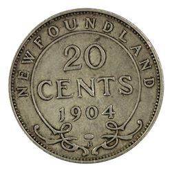 Newfoundland (Canada) 1904 H 20 Cents, Extremely Fine