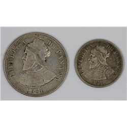 Panama 1904 5 & 10 Centesimos, Both good Very Fine