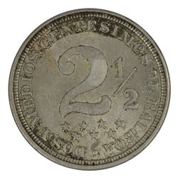 Panama 1907 2-1/2 Centesimos, about Uncirculated