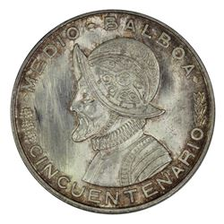 Panama 1930 1/4 Balboa, Lightly toned -  Uncirculated