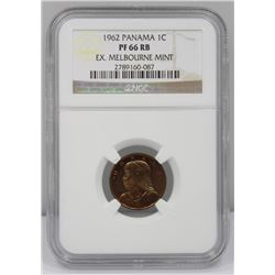 Panama 1962 (L) Proof Centesimo, NGC PF66 RB