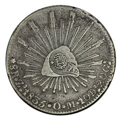 Philippines 1834-37 c/s on 1835 OM 8 Reales, good Very Fine
