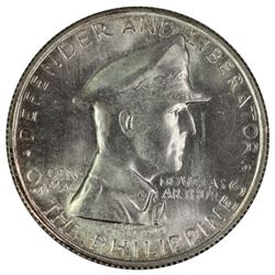 Philppines 1947 S 'Republic' Silver Peso, near Gem