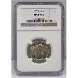USA 1918 Quarter Dollar, NGC MS62 FH