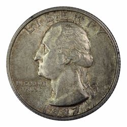 USA 1937 S Quarter Dollar, Toned - Choice Uncirculated