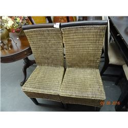 2 Rattan Side Chairs - 2 Times the Money