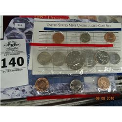 Uncirculated United States Mint Coin Set 1997