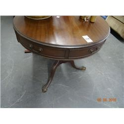Round Mahogany End Table