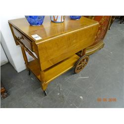 Maple Rolling Tea Cart