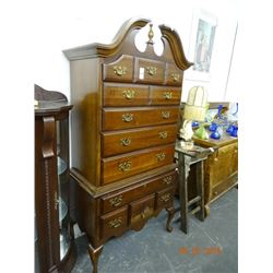 Mahogany High Boy Chest of Drawers