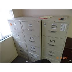3 Hon 4 Drawer Legal File Cabinets - 3 Times the Money