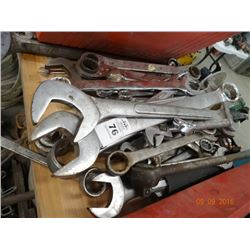 Large Lot of Open End Wrenches