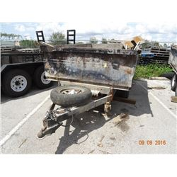 Triple Crown T/A 6' x 10' Dump Trailer, Electric Brakes, Tag # DZGC48