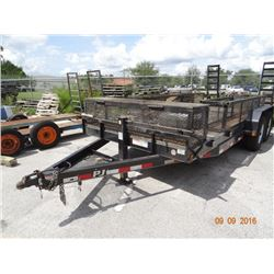 2013 PJ T/A 7' x 20' Dovetailed Equipment Trailer w/Work Tool Box & Electric Brakes, Nice Cond. VIN