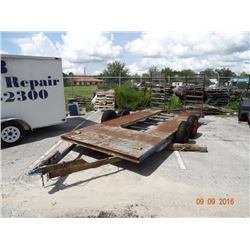 T/A D.P. 7' x 16' Equipment Trlr. w/Ramps - No Title Required