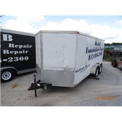 2009 Arising V-Nose 20' Enclosed Trlr w/Ramp, Side Door - Nds. Brakes - Vin # 5YCBE16219H000642
