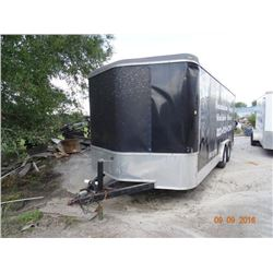 T/A V-Nose 22' Enclosed Trlr w/Ramps, Side Door, Nds. Brakes