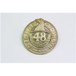 WWII, MILITARY BADGE 48TH HIGHLANDERS