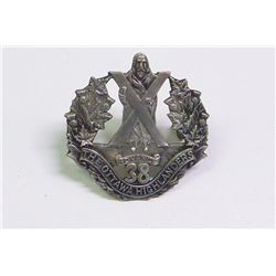 WWII, MILITARY CAP BADGE OTTAWA HIGHLANDERS