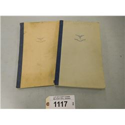 LOT OF 2 SOFT COVER MILITARY DRILL BOOKS