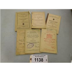 LOT OF 6 SOFT COVER WW II MILITARY MANUALS