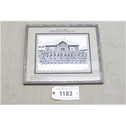 WWII FRAMED PHOTO OF SERGEANTS MESS BARRIEFIELD CONCENTRATION CAMP