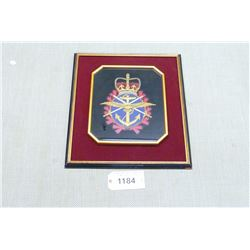 FRAMED/MOUNTED CANADIAN ARMED FORCES CREST