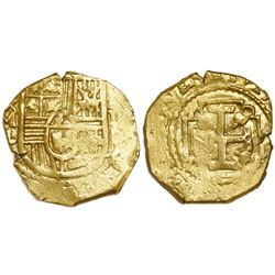 Mexico City, Mexico, cob 2 escudos, Charles II, assayer L, from the 1715 Fleet ( Tricentennial Treas