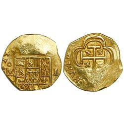 Mexico City, Mexico, cob 1 escudo, 1714J, from the 1715 Fleet.