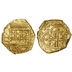 Cartagena, Colombia, cob 2 escudos, 1630, assayer E below mintmark C to right.