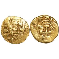 Bogota, Colombia, cob 1 escudo, Philip V (ordinal visible in legend), assayer not visible.