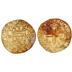 Lisbon, Portugal, cruzado, Afonso V (1438-81, struck 1457-81), legends CRVZATVS … RE / ADIVTORIVM …