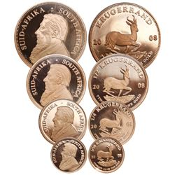 Four-coin set of proof 1, 1/2, 1/4 and 1/10 krugerrand, 2008, all encapsulated NGC PF 70 ULTRA CAMEO