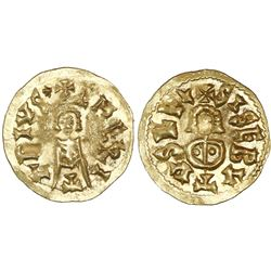 Spain (Visigoths), gold tremissis, Sisebut (612-621 AD), Emerita mint (Merida, Badajoz, Spain).