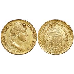 Madrid, Spain, bust 2 escudos, Ferdinand VII (large bust), 1814GJ.