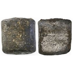 "Contraband silver ""half cylinder"" ingot, 567 grams, from the 1715 Fleet."