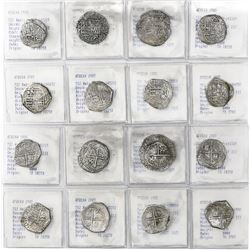 Lot of 8 Potosi, Bolivia, cob 2 reales, Philip III, various assayers (where visible), all Grade-2 qu