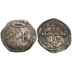Mexico City, Mexico, cob 1/2 real, Philip III, assayer A/F (1608-9), rare, ex-Christensen.