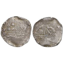 Potosi, Bolivia, cob 8 reales, Philip IV, assayer FR (early 1640s).