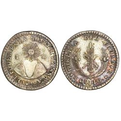 Quito, Ecuador, 1 real, 1839MV.
