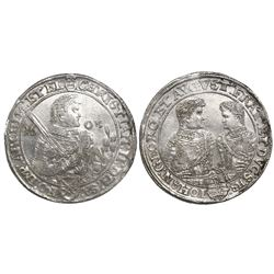 Saxony (German States), taler, Christian II, Johann Georg and August, 1605, Dresden mint.
