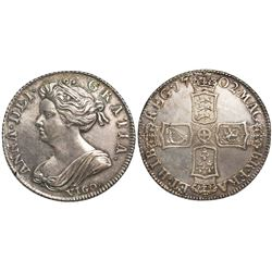 Great Britain (London, England), shilling, Anne, 1702, with VIGO below bust.