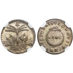 Haiti, 12 centimes, AN XI (1814), encapsulated NGC MS 63.