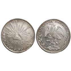 San Luis Potosi, Mexico, cap-and-rays 4 reales, 1847AM, ex-McCormick.