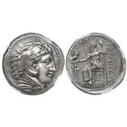 Kingdom of Macedon, AR tetradrachm, Philip III Arrhidaios, 323-317 BC in the name of Alexander III (