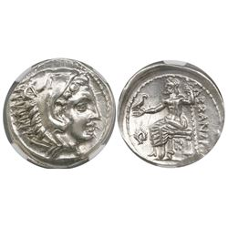 Kingdom of Macedon, AR tetradrachm, Kassander, as regent, 317-305 BC, in the name of Alexander III (
