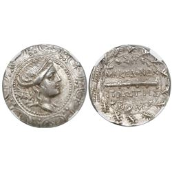 Macedon under Roman Rule, AR tetradrachm, ca. 167-148 BC, 1st Meris, Amphipolis mint, encapsulated N