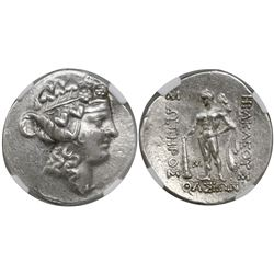 Thrace, Islands of Thasos, AR tetradrachm, 2nd-1st centuries BC, encapsulated NGC Choice AU / strike