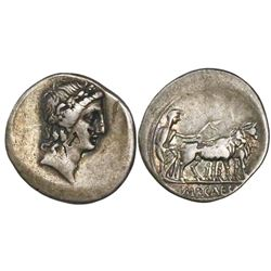 Roman Republic, AR denarius, Octavian, 43-27 BC, uncertain Italian mint, struck 29-27 BC.