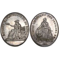 Potosi, Bolivia, oval silver medal, ca. 1825, Department of the Interior.